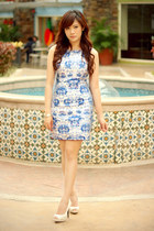 blue china print apartment 8 dress