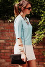 Ivory-vintage-dress-light-blue-thrifted-vintage-jumper