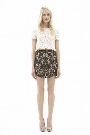 white 31 phillip lim top - black 31 phillip lim skirt