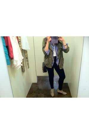 boots - jacket - leggings - Forever 21 shirt