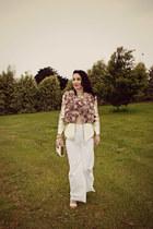 pink Jayde Hayes Designs jacket - white bag