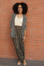 Olive-green-foreign-exchange-cardigan-off-white-crochet-american-eagle-top