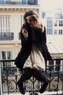 Black-h-m-coat-beige-forever-21-dress-black-newlook-tights-black-h-m-socks