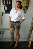 Brothers Borrowed blouse - Gap belt - Guess shorts - CLN shoes - Matthews shoes