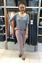 pastel pants - simple top