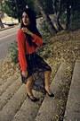 Blue-the-boutique-skirt-red-the-boutique-blouse-black-the-boutique-heels