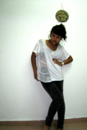 DIY t-shirt - Topshop jeans