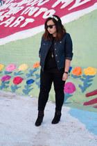 denim jacket Lou and Grey jacket - newbury boots rag & bone boots - Zara jeans