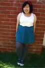 White-forever-21-top-blue-urban-outfitters-skirt-red-kaitlyn-accessories-g
