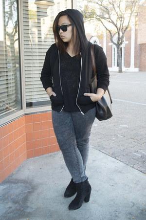 newbury rag & bone boots - Zara jeans - Project Social T t-shirt - H&M hoodie