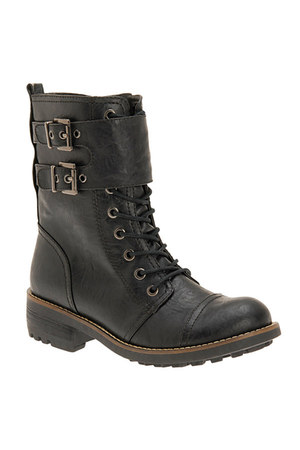 black lace-up Call it Spring boots
