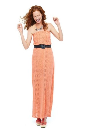 salmon Bisou Bisou dress - coral tamara t-strap City streets sandals