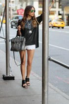 Kristen Dorsey Design necklace - satchel 31 Phillip Lim bag - lace H&M shorts