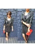 mini mac Rebecca Minkoff bag - Lush jacket - asymmetrical Luna Boutique skirt