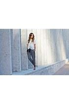 clutch Yves Saint Laurent bag - peplum H&M top - necklace Topshop accessories