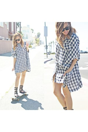 shirt dress 2020AVE dress - Zara sandals