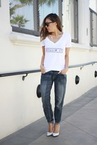 boyfriend Target jeans - graphic tee Style Lately shirt - pumps Aldo heels