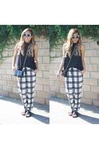 Forever 21 shirt - Yves Saint Laurent bag - zeroUV sunglasses - H&M sandals