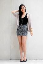 black bodycon Folded & Hung skirt