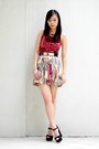 Brick-red-printed-shopabcd-skirt