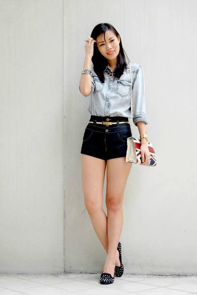 navy Pink Manila shorts