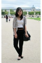 light purple loose Bayo cardigan - black Forever 21 bag - white Topshop top