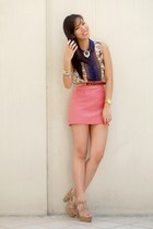 pink shopabcd skirt
