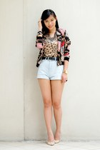 light brown leopard Plains & Prints top