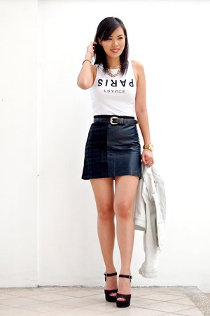 forest green PERSUNMALL skirt