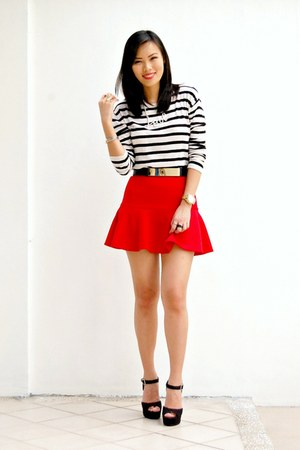 red Forever 21 skirt