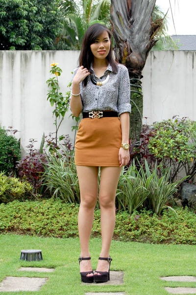 bronze Coexist skirt