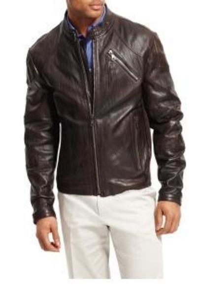 brown kenneth cole new york jacket - black kenneth cole new york shoes - black L