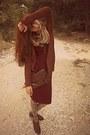Burnt-orange-brogues-bershka-shoes-crimson-ebay-dress