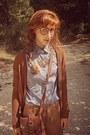 Burnt-orange-brogues-bershka-shoes-periwinkle-cats-romwe-shirt