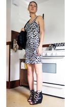 H&M dress - bronx shoes - H&M purse - vintage accessories - H&M jacket