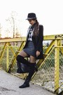 Black-leather-stradivarius-boots-black-zara-coat-black-plaid-h-m-shirt