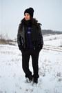 Black-zara-leggings-black-h-m-scarf-deep-purple-c-a-sweatshirt