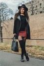 Black-bershka-boots-black-zara-coat-black-h-m-hat-black-new-yorker-sweater