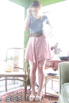 vintage skirt - American Apparel shirt - Miu Miu belt -  shoes
