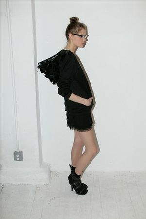 black Pencey sweater - black Pencey skirt