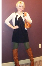 Sass and Bide dress - Ralph Lauren sweater - xhiliration tights - Urban Outfitte