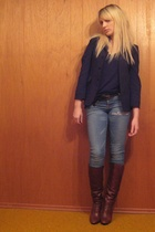 vintage shoes - vintage blazer - aa top