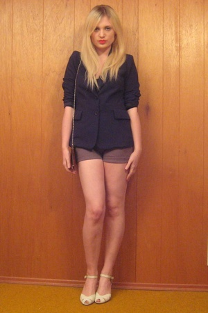 vintage blazer - H&M shorts - American Apparel jacket - vintage shoes - forever