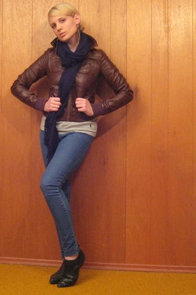 hm jacket - vintage jeans - vintage shoes