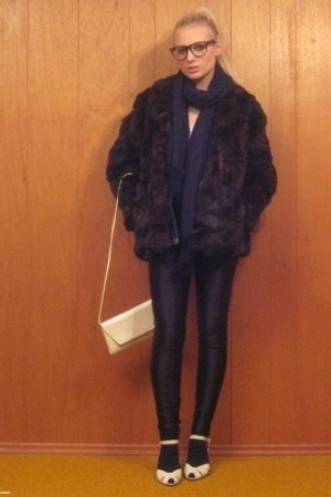 vintage coat - aa pants - - vintage purse - vintage shoes