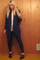 H&M t-shirt - forever 21 sweater - scarf - vintage jacket