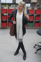 vintage jacket - forever 21 sweater - American Apparel pants - H&M scarf - H&M s