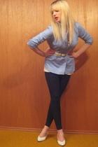 vintage shirt - aa pants - aa t-shirt - vintage belt - vintage shoes