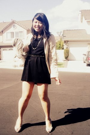 Efface blazer - H&M shirt - Wetseal skirt - Garage Sale necklace - Fioni shoes