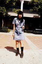 vintage dress - Mudd boots